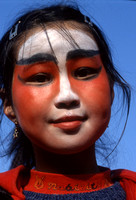 Young girl made-up & ready to celebrate Chinese New Year, 1998