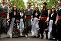Kurds dancing during 2010 May day celebrations.