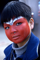Young boy made-up & ready to celebrate Chinese New Year, 1998