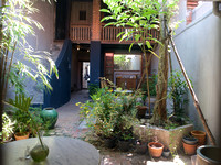 Back yard of renovated shophouse.